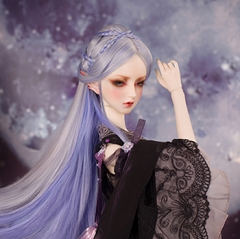 1/3 Bjd Gray & Blue Ancient Braided Wig
