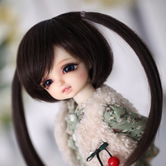 1/6 bjd black twin tail