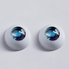 20mm Doris Cartoon eyes -- Blue Sea
