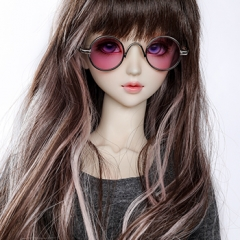 1/3 youth fashion round frame purple pink glasses