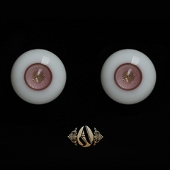 12mm soft pink-golden eyeball