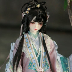 1/3 girl ancient style updo wig of Xue Baochai