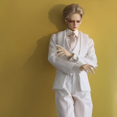 74+ Male Wei Jie White Retro Western suit