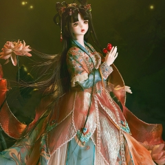 1/3 Wen Yao ancient style outfits - Red lotus