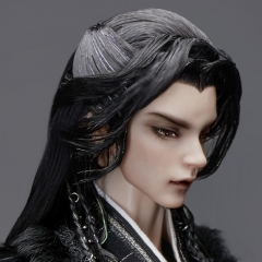 1/3 70cm+ Ancient style hair with widow's peak (Mo-tse)